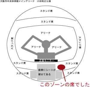 大阪市中央体育館 小田和正 ライブ 公演 座席表