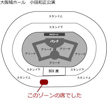 小田和正 大阪城ホール 座席表 ライブ コンサート
