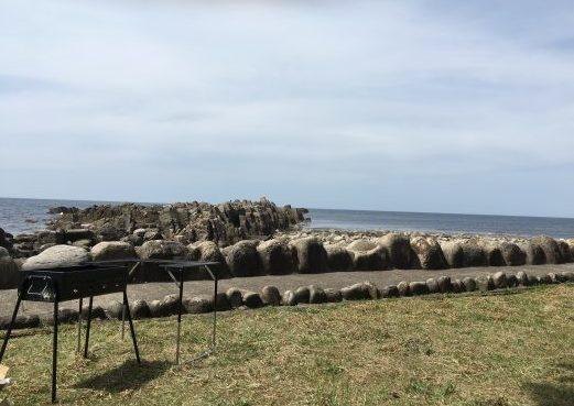 鮎川園地キャンプ場からの日本海