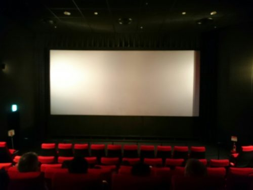 映画館の上演スクリーン