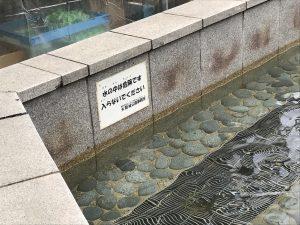 靭公演の噴水