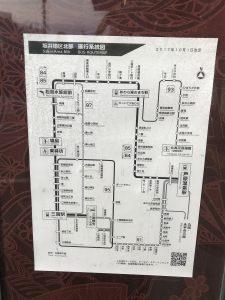 芦原のバスの路線図