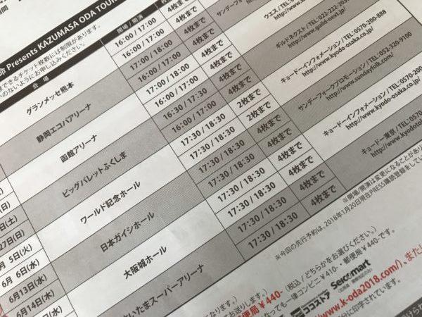 小田和正ツアー申込書