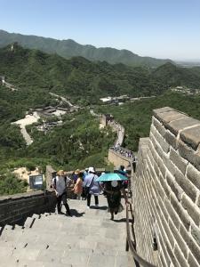 万里の長城八達嶺3段目からの景色