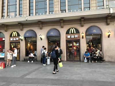 北京駅のマクドナルド