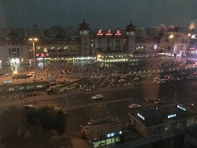 夜の北京駅
