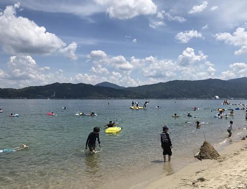 天橋立海水浴場のビーチ