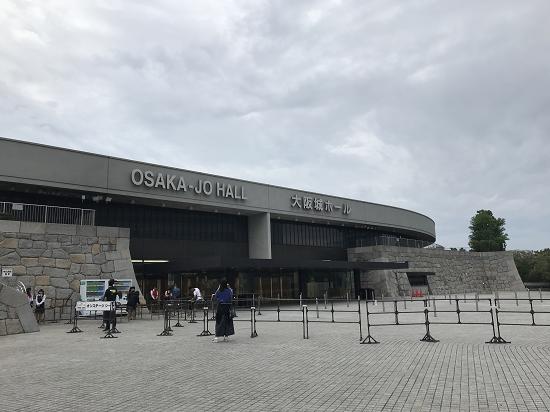 大阪城ホール入り口 オンステージ申し込み場所