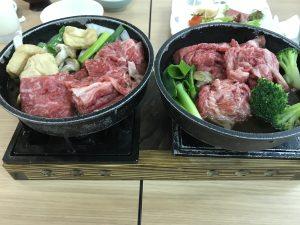 近江牛食べ放題のすき焼き
